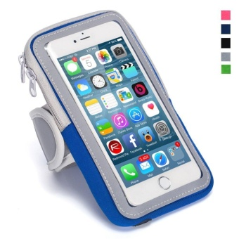 Running Cycling Hiking Sports Fitness Armbands for 6.0 inch andbelow Mobile Phones for iPhone 7/7 Plus 6/6S Plus SE 5S 5 forSamsung Android Smartphones (Blue) - intl