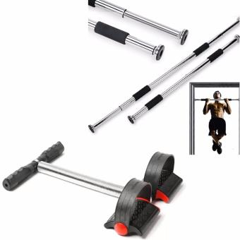 SellinCost Top Grade Iron Gym Pull Up Door Gym Chin Up Bar With Tummy Trimmer (Black) Price Philippines