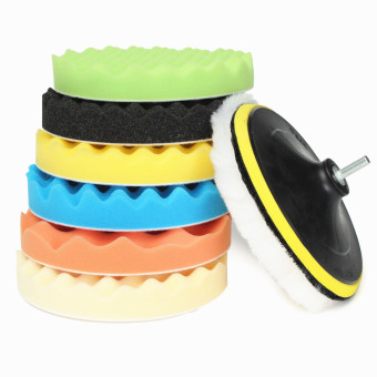 Teamwin 8pcs 7'' Sponge Polishing Waxing Buffing buffer Pads Set Kit Auto