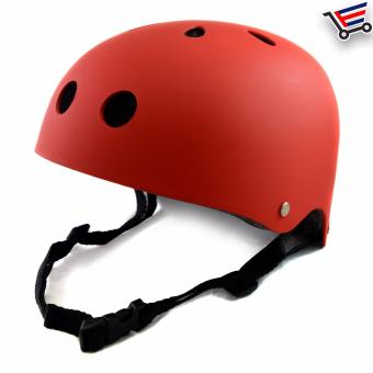 Unisex Bmx Nutshell Bike Cycling Protective Helmet (Red)