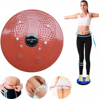 Waist Twisting Disc Figure Trimmer Fitness Board-(Red)