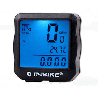 Waterproof Backlight Cycling Bicycle Bike Computer OdometerSpeedometer Blue