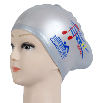 Women with long hair waterproof hair care ear cap silicone swimming cap