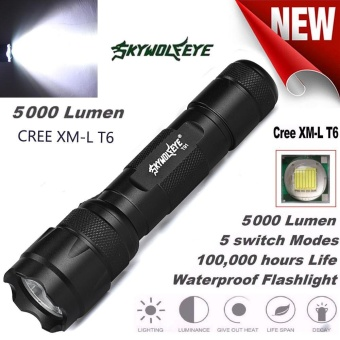 XML T6 LED Tactical Police Flashlight Torch Lamp Light 18650 5 Modes - intl