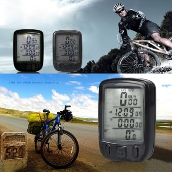 Yidabo Waterproof Bicycle Bike Cycle Wired LCD Digital Computer Speedometer Odometer White LED Backlight 563B