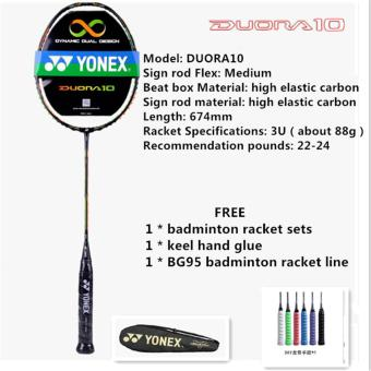 YONEX DUORA10 Full Carbon Single Badminton Racket 22-24 Pounds Suitable for Amateur and Beginner(Chinese Version)