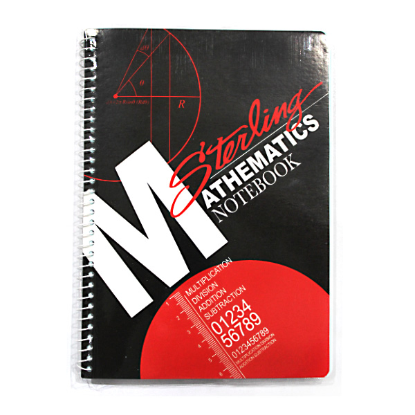 Image of Sterling Math Notebook Red