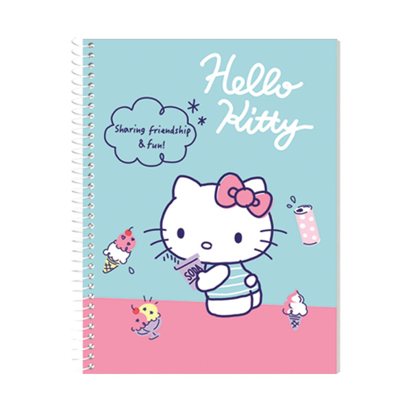 Image of Orions Hello Kitty Spiral Notebook Set of 10