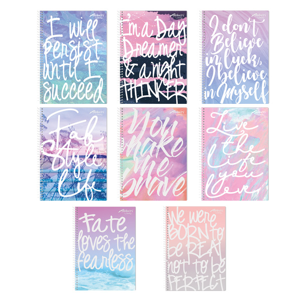 Image of Avanti Endless Thoughts Premium Spiral Notebook Set of 8