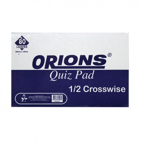 Image of Orions Writing Pad Quiz Pad Crosswise by 3's