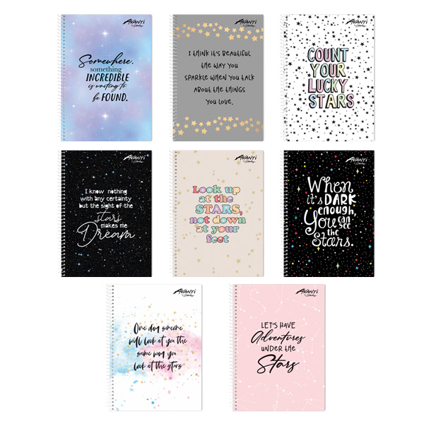 Image of Avanti All About Stars Premium Spiral Notebook Set of 8