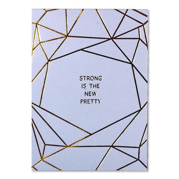"Image of Sterling 5"" x 7"" PaperTrends Note Pad Geometric - Strong is the"