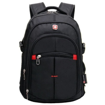 0069 Casual Large Capacity Waterproof Laptop Backpack Black - intl