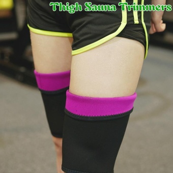 1 Pair Neoprene Thigh Trimmers Sweat Sauna Shaper for Slimming Leg Weight Loss - intl