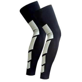 1 Pair Sports Silicone Antiskid Long Knee Support Brace PadProtector Sport Basketball Leg Sleeve Sports Kneepad TX0001 Black -intl Price Philippines