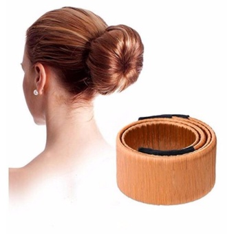2 pcs Fashion Hair Styling Tool Clip Magic Bun Maker Donut Hair Style for Women Girl Hair Pin Accessories - intl