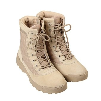 Tactical Army Mens Lace Up Shoes Sports Desert Ankle Boots Waterproof - intl