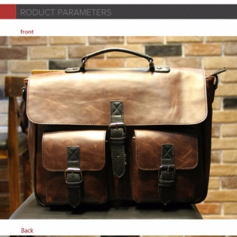 2017 men's casual business Large - capacitypackage/PU leather/trend package/shoulder bag/men 's handbag /horizontal paragraph/original design - intl