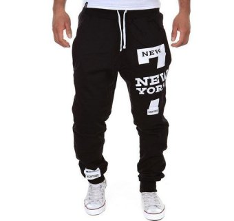 2017 Mens Pants Casual Pants Sweatpants Jogger Black M - intl