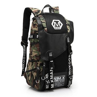 2017 New Korean Laptop Bag School Back Pack Canvas Backpack Women Rucksack Bag Men Bag Camouflage Backpack - intl(...)