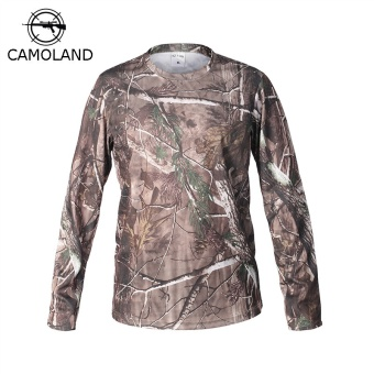 Tactical Military Camouflage T Shirt Male Breathable Quick Dry US Army Combat Full Sleeve Outwear T-shirt for Men - intl