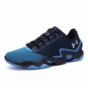 2017 Outdoors Men's Running Shoes Sports Shoes for Mens(light blue+black) - intl