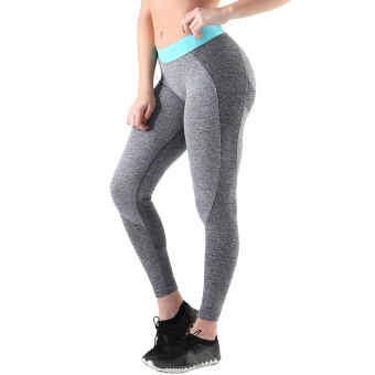 2017 Women High Waist Yoga Fitness Harem Pants Trousers Wide Leg Bloomers DG XL - intl