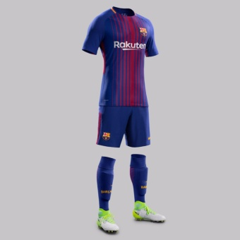 2017/18 season Barcelona Football jersey soccer jersey home top Thai jersey with brand logo - intl