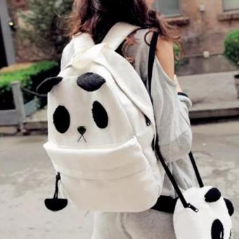 2NE1 Fashion Canvas Panda Shoulder School Bag Handbags - intl