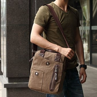 360DSC Muzee Business Casual Canvas Handbag Tote Bag Crossbody BagShoulder Bag Mens Bag - Coffee - intl Price Philippines