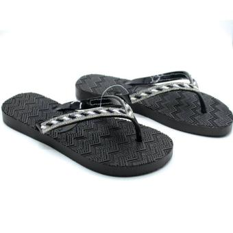 5-Season Flip Flop Footwear Slippers for Women 2736 (Black)