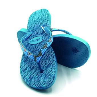 5-Season Flip Flop Footwear Slippers for Women 2739 (Blue)