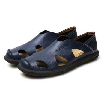 AD NK FASHION Men's Fashion Style Breathable LeatherSandals(Blue)AK064 Price Philippines