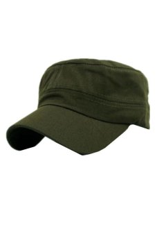 Ai Home Unisex Classic Army Vintage Hat Cadet Military Patrol PlainCap Hats (Army Green) - Intl Price Philippines
