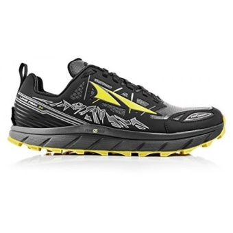 """Altra Mens Lone Peak 3 Running Shoe, Black/Yellow, US - intl"""