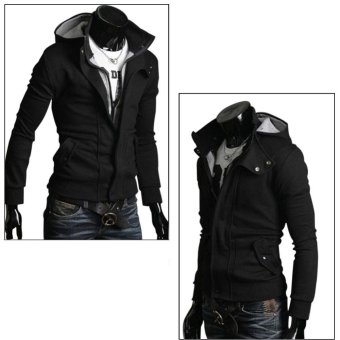 Amart Men Zipper Hooded Long Sleeve Outwear Overcoat - intl