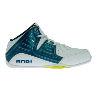 And1 Rocket 4.0 Junior Basketball Shoes (Blue/Yellow)