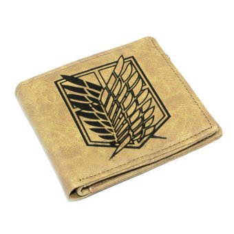 Anime Attack On Titan Shingeki no Kyojin Leather Wallet PurseScouting Legion Emblem Collection (Beige) Price Philippines