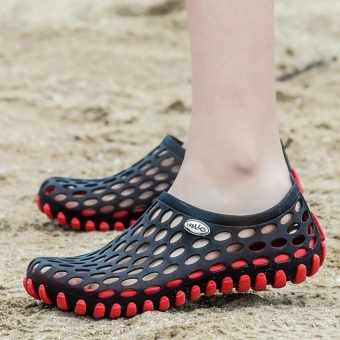 APTESOL Men/Women Summer Casual Sandals Couple Jelly Cave Beach Play Water Swim Shoes (EU36-45,Red) - intl