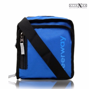 Attraxion Angus - 3690 Sling Crossbody Bag for Men (Blue)