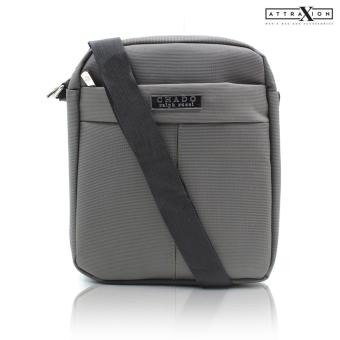 Attraxion Chado Sling Crossbody Bag for Men (Gray/Black)