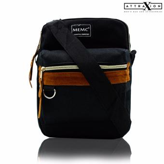 Attraxion Kellin - 16010 Sling Crossbody Bag for Men (Black)