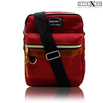 Attraxion Kellin - 16010 Sling Crossbody Bag for Men (Red)