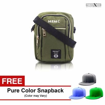 Attraxion Paolo - 881 Sling Crossbody Bag for Men (Army Green) With Free Pure Color Cap (Color may vary) Price Philippines