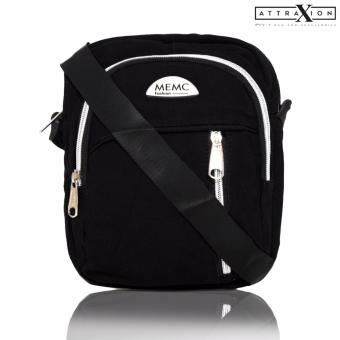 Attraxion Rufio - 714 Sling Crossbody Bag for Men (Black)