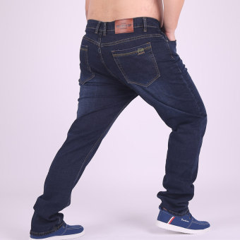 Winter Men stretch Plus-sized straight long Pants Plus-sized Jeans D8658 D8658
