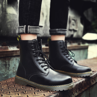 Autumn hight-top boots Dr. Martens (Black)