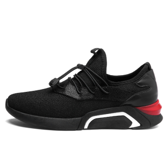 style breathable Rubber shoes Sneakers men's shoes C704 all black