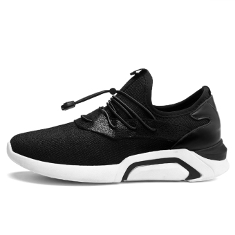style breathable Rubber shoes Sneakers men's shoes C704 black and white