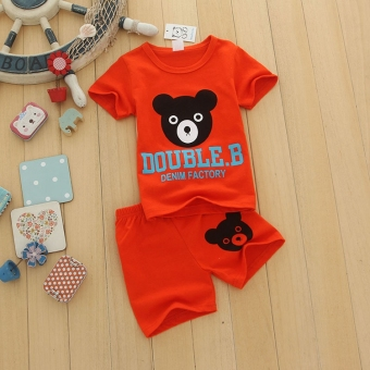 Baby New style boy's Bear children's clothing (Color Mix & Match (6 sets general hair two, color))